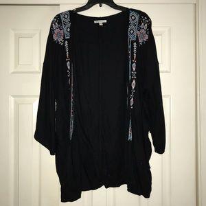 Black American Eagle Kimono